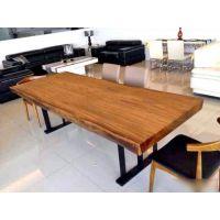 美式乡村铁艺茶几 休闲咖啡桌椅 仿古实木餐厅桌椅 长方形桌子