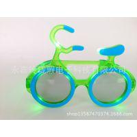 厂家直销LED 自行车闪光眼镜 助威道具