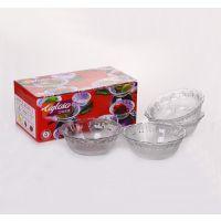 水晶玻璃碗四件套 餐具礼品促销礼品