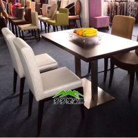 饭店餐厅桌椅 西餐店餐厅桌椅 四人餐桌椅组合 多多乐餐饮家具