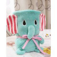 忧伤马戏团萌物小象卷毯 卡通小盖毯大象可折叠毯 休闲小盖毯子