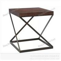 新款乡村家居 铁艺实木茶几 休闲实木椅子 咖啡椅子