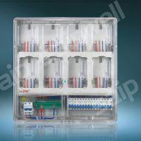 单相8位预付费电表箱(V系列) 配电箱 透明防窃电表箱 正品保修