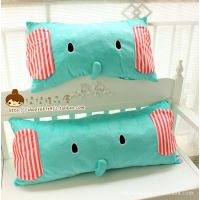 批发供应san-x 忧伤马戏团大象毛绒靠垫/抱枕 可拆洗单人枕双人枕