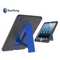 工厂低价直销 iPad air 2上下盖双层保护套 带支架硅胶+pc保护套