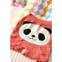 日单 高品质圈圈纱可爱熊猫家居保暖成人护腹护腰护肚裤