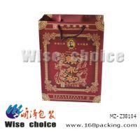 白酒手提袋 纸质印刷手提纸袋 纸红酒礼盒袋 食品包装手提袋