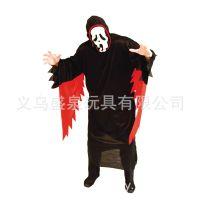 万圣节成人化妆舞会鬼节 酒吧派对表演用品 男黑暗之神服装