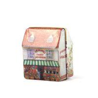HOMEQIluck shop 迷你全彩绘小房子铁盒收纳盒zakka杂货首饰盒