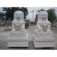 汉白玉石雕狮子|传统石狮子|欧式爬狮|汇丰石狮子|墓地石狮子