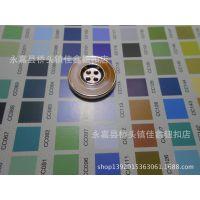 供应树脂仿琥珀与塑料UV电镀组合2.5CM时尚大衣纽扣