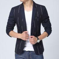 秋装新款男士西装韩版修身小西服男式西装男修身针织高档西服潮