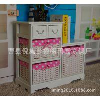 家具公司低价促销新款白色田园风格烤漆储物柜 批发木制柜子