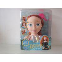 勇敢公主系列半身芭比娃娃身体+化妆品公仔玩偶