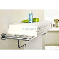 厂家批发 304不锈钢双层浴巾架 浴室卫浴挂件 卫浴毛巾架
