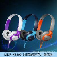 新款索尼MDR-XB200头戴式重低音耳机电脑MP3手机通用耳机