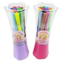 新款正品授权迪士尼 花束筒装芭比水彩笔 12色可洗水彩笔 BL8155