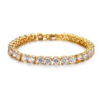 一件代发超精致 闪亮水晶钻串链 锆石 女生手链 情人节礼物ksq508