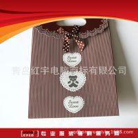 专业定制 覆膜白卡纸手提袋 礼品购物手挽纸袋