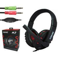 科麦A7 头戴护耳式耳麦 高级游戏玩家有线耳机 电脑语音聊天耳机