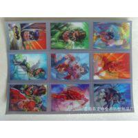供应 蝙蝠侠3D变化卡片 超人动漫三维立体卡片 光栅片