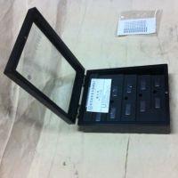 供应东莞厂家定做各种小木盒 黑色喷漆木盒 金银币徽章木盒