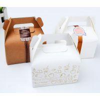 小号手提西点盒 蛋糕盒 慕斯盒 甜品打包盒 牛皮纸盒 X170
