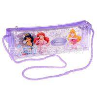 广州迪士尼笔袋工厂定制 透明PVC卡通印刷笔袋公主系列 批发