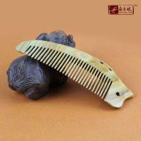 945【角木蛟】品牌厂家批发8-28天然绿檀整木梳 高档精品按摩梳子