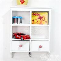 家具批发爱尚艺家木质抽屉式收纳柜欧美式组合风格杂货3层收纳柜
