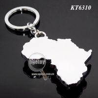 外贸出口高品质环保锌合金迷你仿真非洲大陆地图钥匙扣纪念腰挂