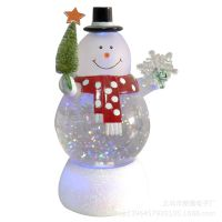 厂家直销圣诞工艺礼品 闪光装饰品 发光用品 水球圣诞带马达RT116
