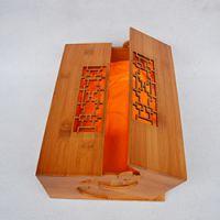 巨匠厂家定制天然竹材精制高档竹盒 礼品工艺竹包装