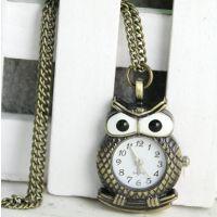 青古铜挂表复古表钥匙扣挂表 挂件表项链表毛衣链 格纹老鹰