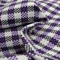 现货供应 方格纺织粗纹编织装饰布 沙发的面料 座椅布