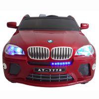 新款儿童汽车宝马X6双排座四轮可坐宝宝电动车大车灯双驱动玩具车