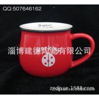 厂家制作仿搪瓷陶瓷杯 working色釉杯 zakka早餐杯可定制LOGO