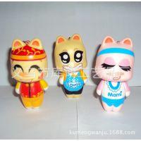 厂家生产搪胶玩具 卡通塑胶玩具公仔 PVC环保公仔 PVC球星公仔