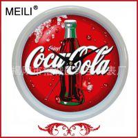 小尺寸便宜可口可乐活动促销礼品挂钟 支持定制啤酒塑料挂钟