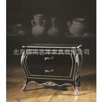 订做银箔实木床头柜 酒店床头柜 欧式床头柜 新古典床头柜