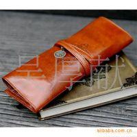 韩国进口文具 暮光之城复古皮质大容量笔袋/化妆袋0.06