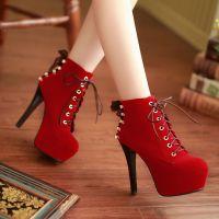 供应女鞋批发 春秋新款性感时尚低筒靴 复古百搭马丁靴 短靴 女靴子
