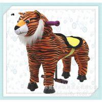 非电动诸葛马厂家批发 儿童骑乘玩具 卡通动漫 毛绒仿真动物老虎