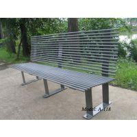 合肥公园户外长条铁椅子,安徽商业街休闲椅,路边休息椅