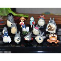 宫崎峻经典动画 龙猫 树脂公仔人偶 微景观饰物素材 厂家高端品质