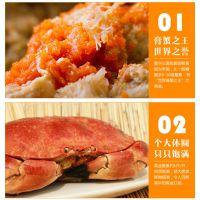 枫林有机食品:爱尔兰黄金面包蟹 约1斤/只