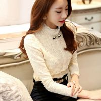 现货2014秋装新款 韩版大码女装雪纺罩衫上衣潮长袖打底衫