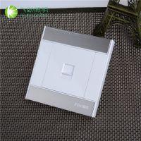 直销电脑网线专用单孔插座面板 塑料单联八芯电脑信息插座面板