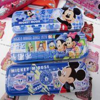 新款文具盒 迪士尼 学生文具盒 双层铁笔盒 马口铁文具盒Z6961