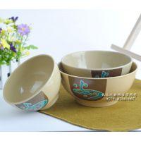 日式仿瓷餐具餐具喷点仿瓷塑料碗 汤碗 面碗 锥形